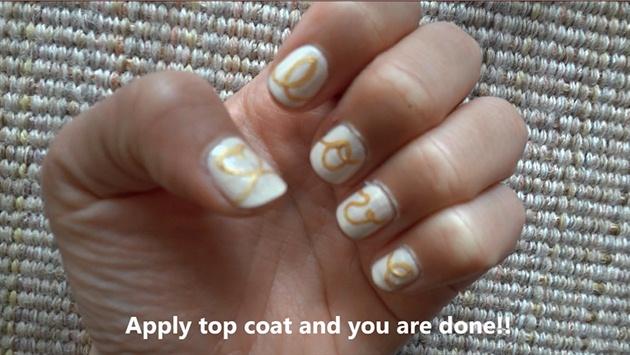 Love String Nail Art Design Nail Art Gallery Step By Step Tutorial Photos
