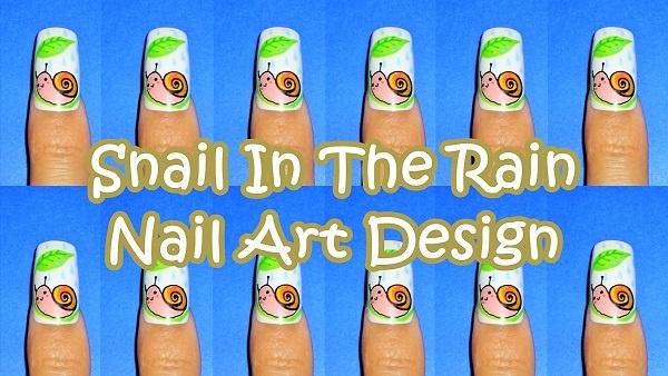 Kawaiinailartdesign Https Www You User Snail In The Rain Nail Art Design Http Youtu Be 8 Byixo3hza