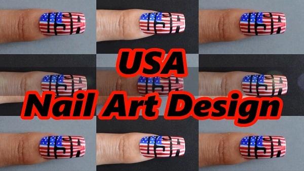 USA Nail Art Design