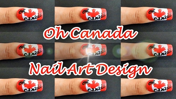 Oh Canada Nail Art Design
