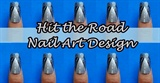 Hit The Road Nail Art Design
