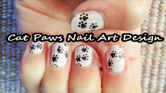 Cat Paws Nail Art Design
