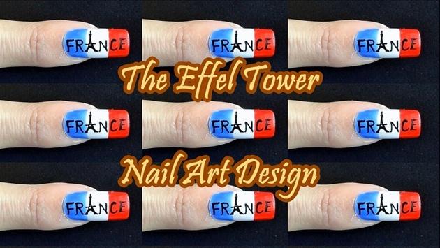The Effel Tower Nail Art Design