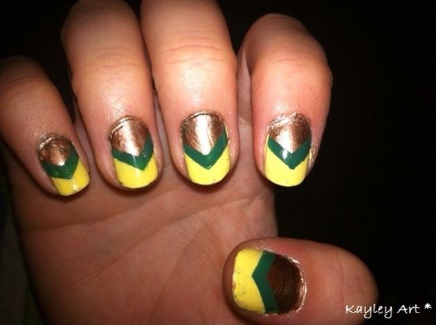 Yellow, green, brown combo