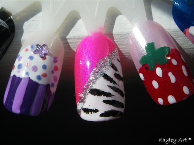 cupcake, zebra, strawberry <3