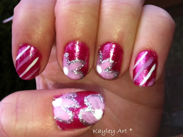 Pink flowers and stripes :)