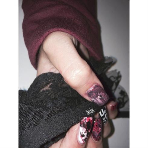 Acrylic Nail Extensions. Nail Art.