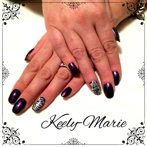 Purple Grl & zebra Print