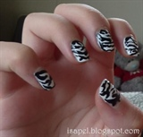 Freehand Zebra Print Nails