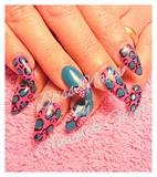 cheetah pink and blue