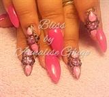 liquid stone nail art