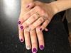 Purple Silver Nails