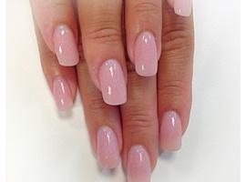 nail art: Cover pink acrylic