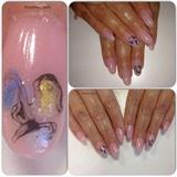 Concealer pink gel, pigment nailart