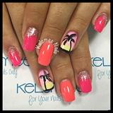 Palmtree Nailart Summernails