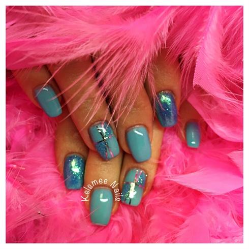 Blue Nails Like A Present