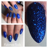 Blue Sugar Nails