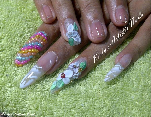 Stiletto love floral 3D