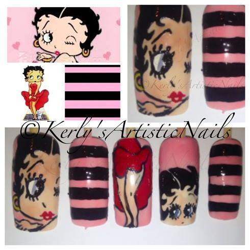 Betty Boop Nails