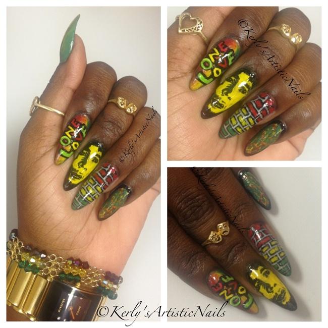Bob Marley Tribute (Inspired Nails) - Nail Art Gallery