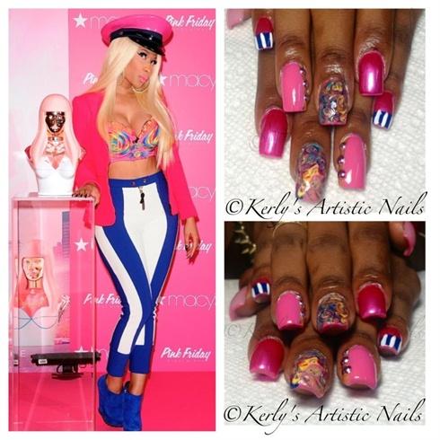 Nicki Minaj Inspired Nail Art Design