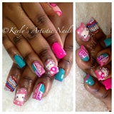 Hello Kitty / Kawii Nails