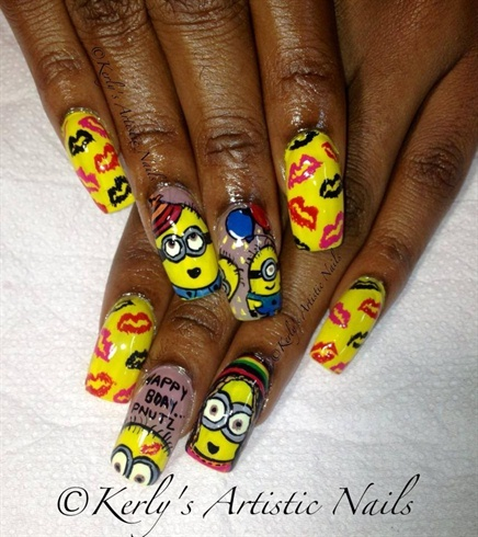 Minions Inspired Nail Art