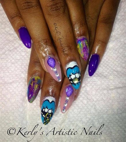 Lipstick Kaoir inspired Nails Design