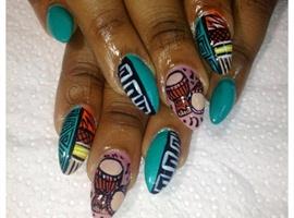 nail art: African Beat