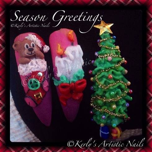 Christmas Nail Art Theme