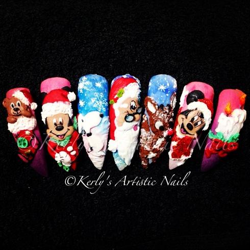Christmas 3d Nail Art Designs Nail Art Gallery