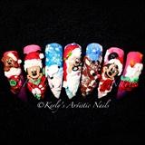 Christmas 3d Nail Art Designs