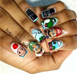 Super Mario bros Nail Art Design