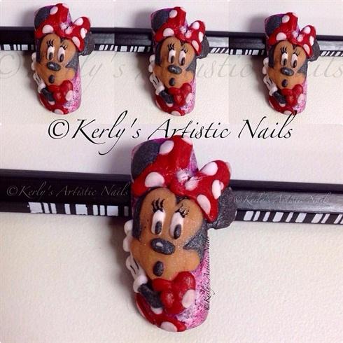 Minnie Mouse 3d Nail Art