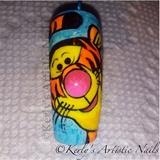 Winnie The Pooh - Tiger Nail Art Design