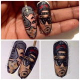 Emilio Ramos Art Inspired Nail Portrait