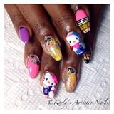 Back To School - Hello Kitty Nail Art