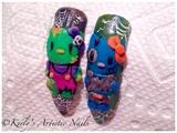 Hello Kitty Halloween Inspired Nails