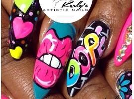 "nail art: DOPE"" Step by Step Nail Art Design"