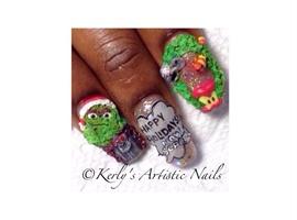 Happy Holidays! NOW SCRAM!! Oscar Nails