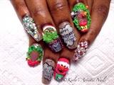 Sesame Street Inspired Nail Art