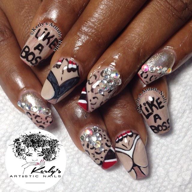 Must be a Trini - Carnival Nails - Nail Art Gallery