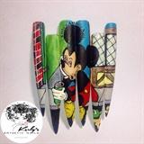 Mickey Mouse Nail Art Mural