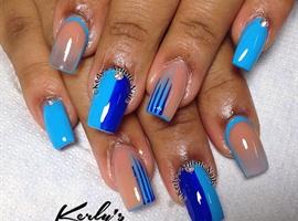 nail art: Blue Mood