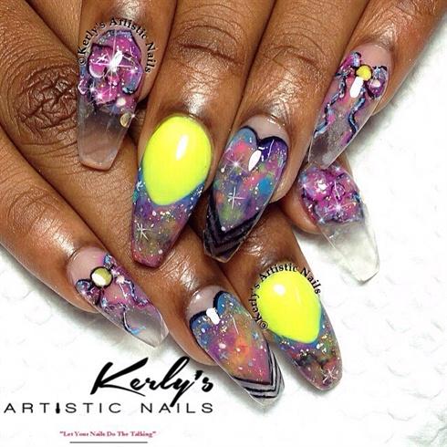 Galaxy Nails -  Neon Twist