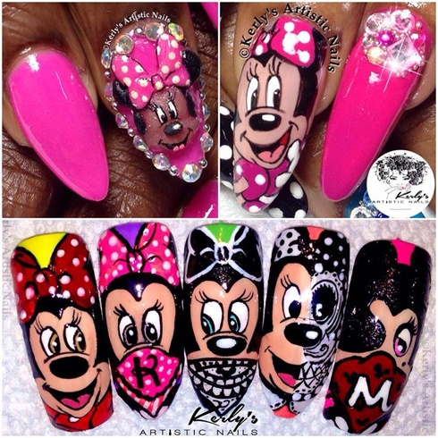 Kerly's Artistic Nails Minnie Mouse Nail