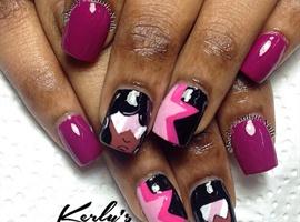 nail art: Steven Universe - Garnet Nails
