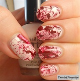 Blood spatter nails
