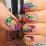 Glitter bling nails