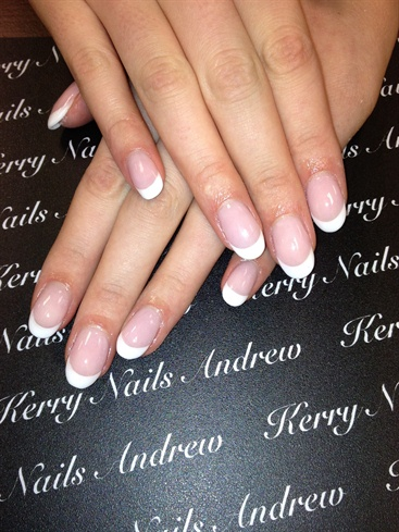 Sculptured Pink & White Acrylic Nails